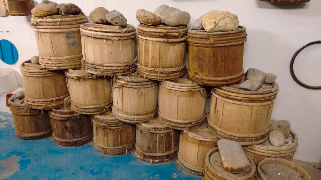 barili per la conservazione delle acciughe